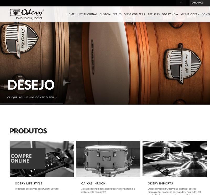 site odery - Webcompany na batucada da Odery Drums