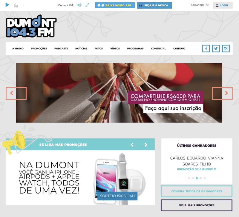 site radio dumont fm - Novo posicionamento digital da Rádio Dumont FM amplia a audiência da rádio