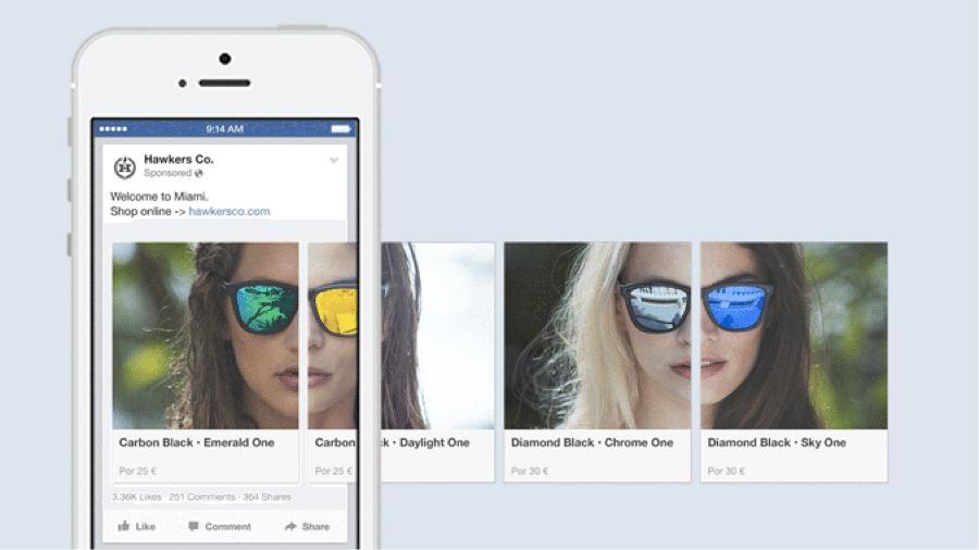facebook carousel - Como anunciar no Facebook? Descubra!