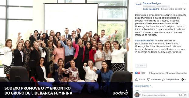 sodexo serviços liderança feminina - Como trabalhar em redes sociais no Dia da Mulher