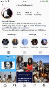 michele obama conta verificada 169x300 - Conta verificada no Instagram: será que você também pode ter?